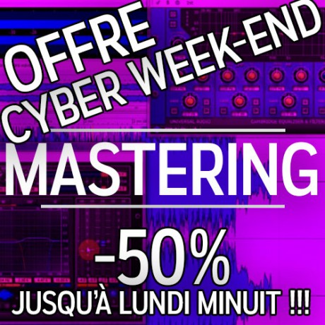 mastering offre spéciale cyber we - 50%